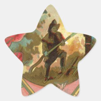 Adesivo Estrela Cobrir do sapador-bombeiro do bombeiro dos 1880's