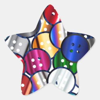 Adesivo Estrela Coleção do botão da cor