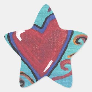 Adesivo Estrela Coleção vermelha dos corações