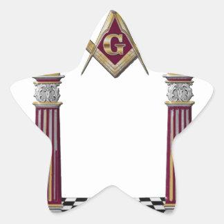 Adesivo Estrela Colunas maçónicas