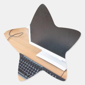 Adesivo Estrela Computador de secretária na classe do computador