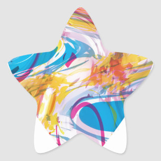 Adesivo Estrela Coração da arte do pulso aleatório