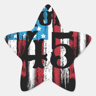Adesivo Estrela Coração da bandeira americana do trunfo