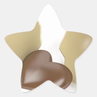 Adesivo Estrela Coração do chocolate