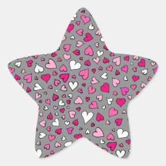 Adesivo Estrela Corações dispersados