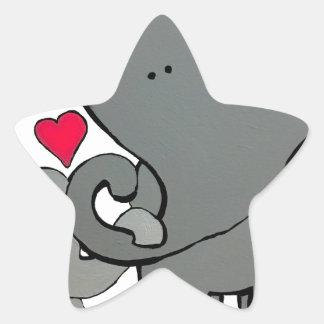 Adesivo Estrela Corações do elefante - um amor de Unforgetable