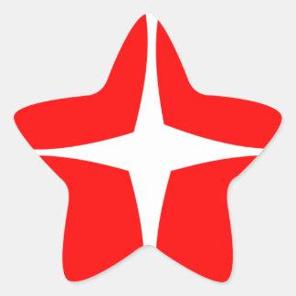 Adesivo Estrela Corações vermelhos
