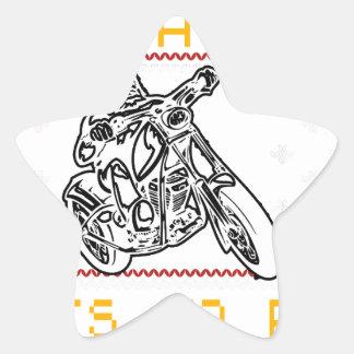Adesivo Estrela corte do design da motocicleta