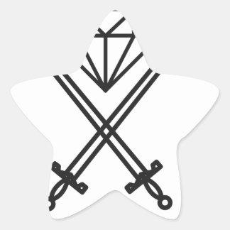 Adesivo Estrela Corte do diamante