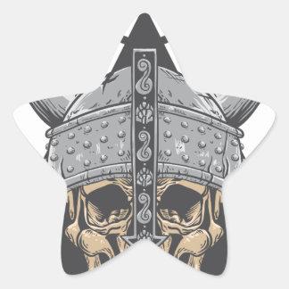 Adesivo Estrela Crânio de Viking