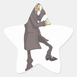 Adesivo Estrela Criminoso perigoso do assassino profissional