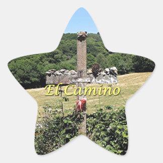 Adesivo Estrela Cruz de madeira, EL Camino, espanha