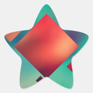 Adesivo Estrela Cubado no surrealismo
