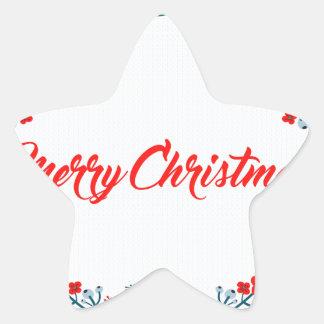 Adesivo Estrela cumprimento do Natal do Feliz Natal