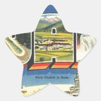 Adesivo Estrela Cumprimentos de Idaho