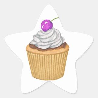 Adesivo Estrela Cupcake