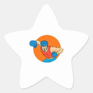 Adesivo Estrela Desenho aéreo do círculo do perfurador do