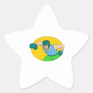 Adesivo Estrela Desenho amador do perfurador de KO do pugilista
