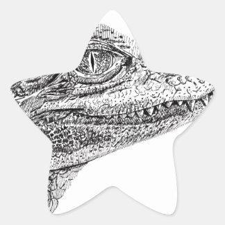 Adesivo Estrela Desenho da tinta do crocodilo do bebê