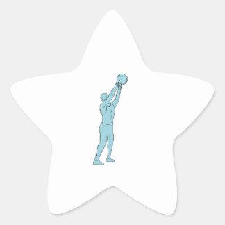 Adesivo Estrela Desenho do balanço de Kettlebell da malhação do