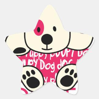 Adesivo Estrela desgaste dos miúdos, cão do bebê