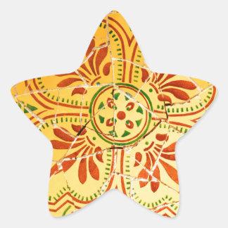 Adesivo Estrela Design abstrato