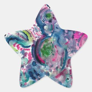 Adesivo Estrela design abstrato colorido do divertimento
