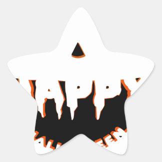 Adesivo Estrela Design bonito do Dia das Bruxas