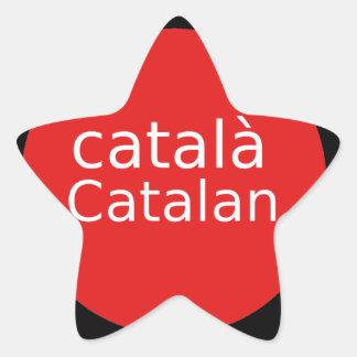 Adesivo Estrela Design Catalan da língua