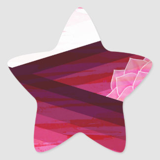 Adesivo Estrela Design contemporâneo sereno da flor
