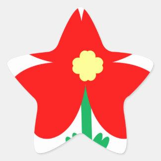 Adesivo Estrela Design da flor do coração