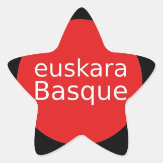 Adesivo Estrela Design da língua Basque