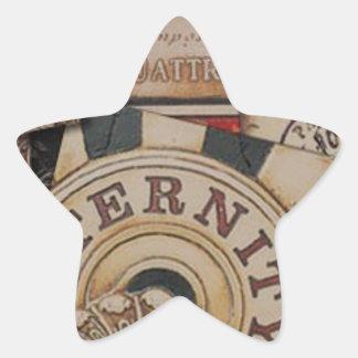 Adesivo Estrela Design de cartão abstrato do jogo