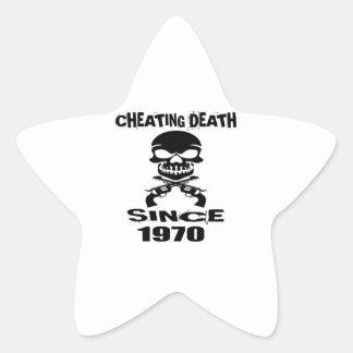 Adesivo Estrela Design de engano do aniversário da morte desde