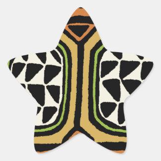 Adesivo Estrela Design de matéria têxtil de Kuba do africano
