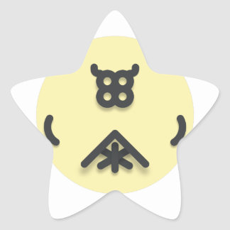 Adesivo Estrela Design de vista asiático