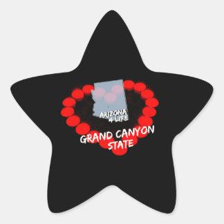 Adesivo Estrela Design do coração da vela para o estado de arizona