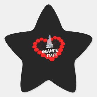 Adesivo Estrela Design do coração da vela para o estado de New