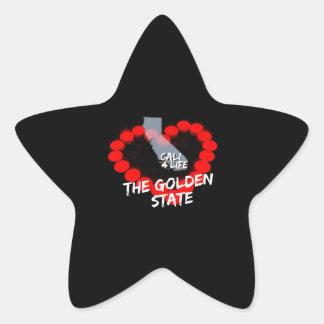 Adesivo Estrela Design do coração da vela para os Estados da