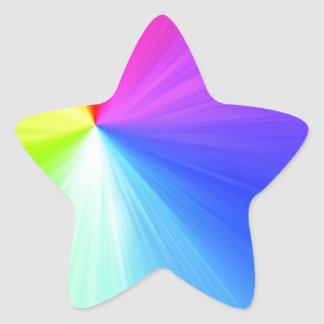 Adesivo Estrela Design do espectro do arco-íris