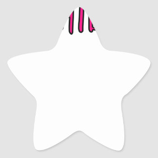 Adesivo Estrela Design do halterofilismo
