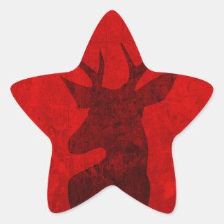 Adesivo Estrela Design do veado vermelho