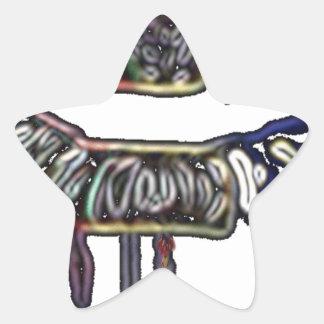 Adesivo Estrela Design dos lábios do arco-íris