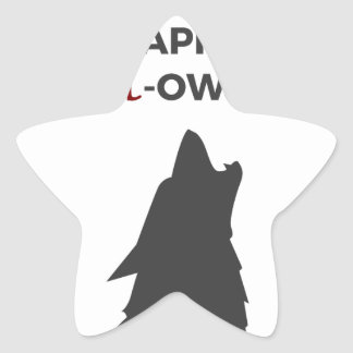 Adesivo Estrela Design feliz do Dia das Bruxas do homem-lobo do