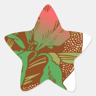 Adesivo Estrela Design floral