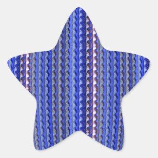 Adesivo Estrela Design geométrico roxo colorido brilhante mega