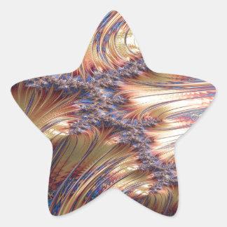 Adesivo Estrela Design reflexivo tripartido do fractal do por do
