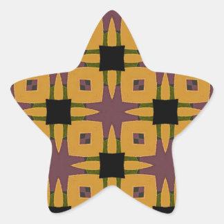 Adesivo Estrela Design retro do divertimento do starburst