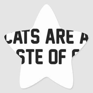 Adesivo Estrela Desperdício dos gatos da pele