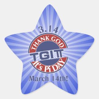 Adesivo Estrela Deus do obrigado de TGIPi seu dia logotipo